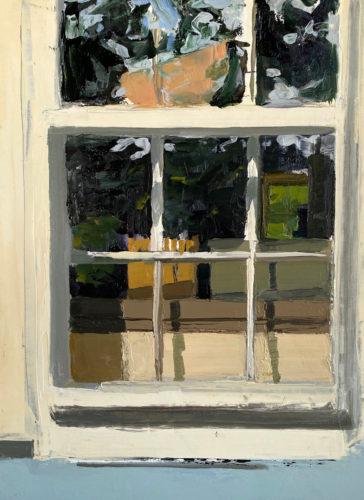 "Amanda Case Millis, ""Cape Window"", 2019, oil on archival panel, 12"" x 9"", Courtesy of the Artist"