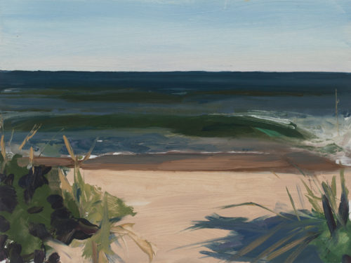 """Amanda Case Millis, """"First Wave (Nauset)"""", 2020, oil on archival panel, 9"""" x 12"""", Courtesy of the Artist"""