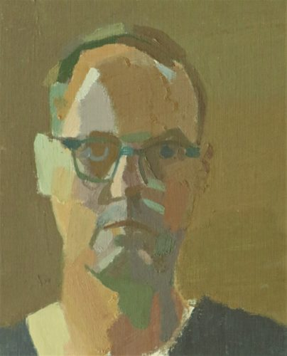"John Lee, ""Summer Brown Head"", 2017, oil on board, 10 x 8 in. Courtesy of the Artist."