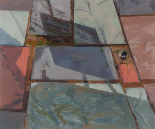 """Amanda Case Millis, """"Shape Shift"""", 2019-20, oil on linen, 15"""" x 18"""", Courtesy of the Artist"""
