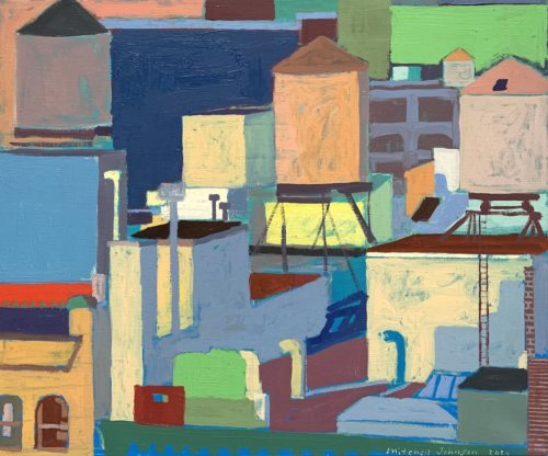 """Mitchell Johnson """"Lower East Side,"""" 2021 20x24 inches oil/canvas. Courtesy of the artist."""