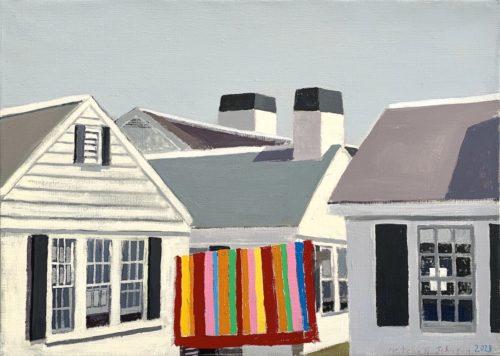 "Mitchell Johnson ""North Truro (Pippin),"" 2021 20x28 inches oil/linen. Courtesy of the artist."